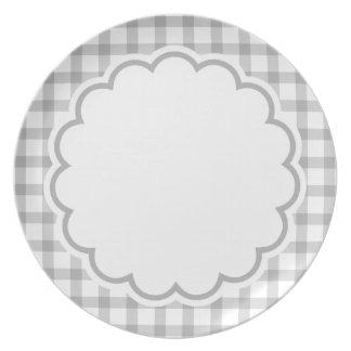 Flor cinzenta louças de jantar