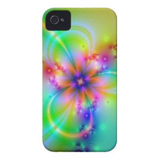 Flor colorida com fitas capa para iPhone