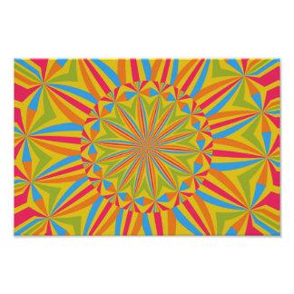 Flor colorida do caleidoscópio impressão de foto