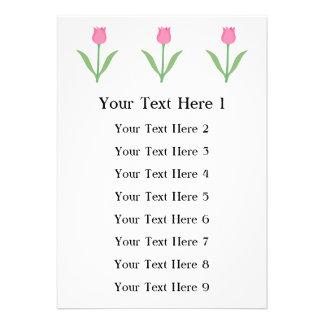 Flor cor-de-rosa bonito da tulipa