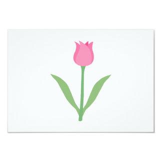Flor cor-de-rosa bonito da tulipa convite 8.89 x 12.7cm