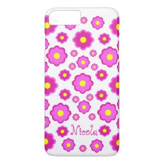 flor cor-de-rosa capa iPhone 7 plus