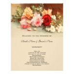 Flor cor-de-rosa da antiguidade do programa do cas modelo de panfletos