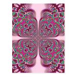 Flor cor-de-rosa de Fusha Cartão Postal