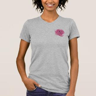 Flor cor-de-rosa do algodão doce t-shirts