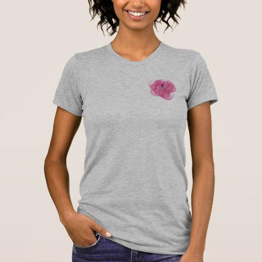 Flor cor-de-rosa do algodão doce t-shirt