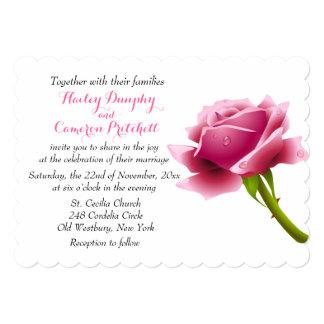 Flor cor-de-rosa do convite cor-de-rosa floral do
