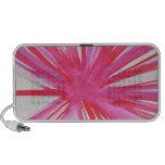 Flor cor-de-rosa do orador! caixinhas de som para viagem