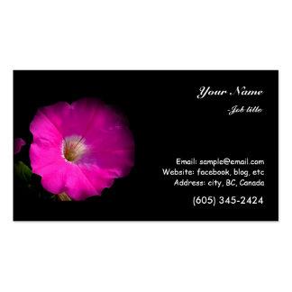 flor cor-de-rosa do petúnia modelo cartoes de visita