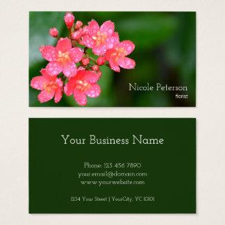 Flor cor-de-rosa - florista cartão de visitas