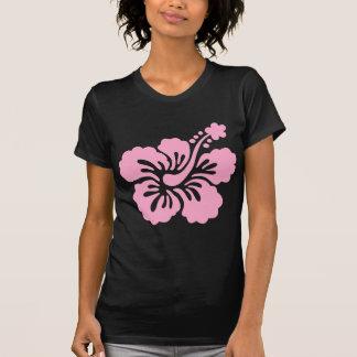 flor cor-de-rosa Q do hibiscus aloha T-shirt