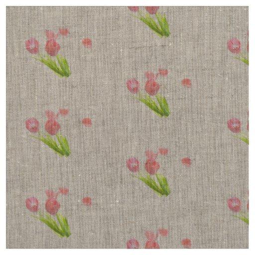 Flor cor-de-rosa retro da tulipa do tecido