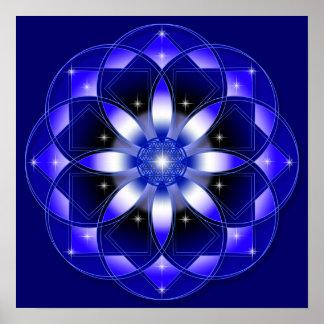 Flor cósmica impressão