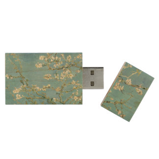 Flor da amêndoa por belas artes de Van Gogh Pen Drive De Madeira