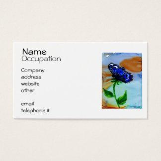 Flor da borboleta cartão de visitas