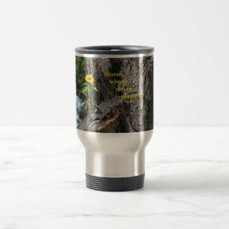 Flor da caneca de viagem… onde você é plantado