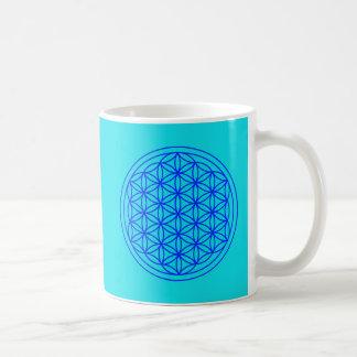 Flor da caneca sagrado da geometria da vida