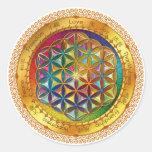 Flor da etiqueta da vida - design ORIGINAL por Adesivo Redondo