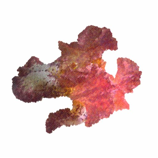 flor da íris (imagem digital) fotoescultura