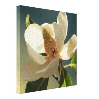 Flor da magnólia do sul, romântica impressão em tela
