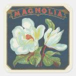 Flor da magnólia do vintage adesivo