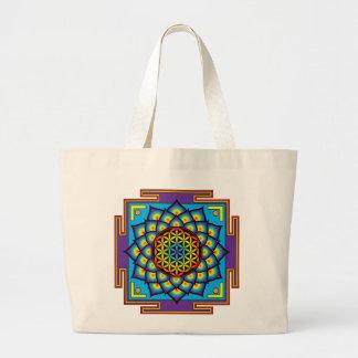 Flor da mandala da vida bolsas para compras