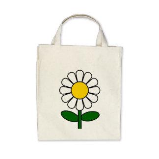 Flor da margarida bolsa de lona