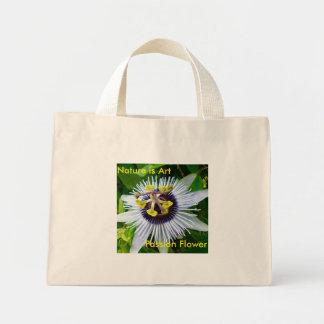 Flor da paixão - a natureza é arte sacola tote mini