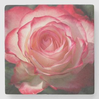 Flor da rosa vermelha porta copos de pedra