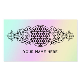Flor da vida - carimbe o preto dos ornamento mim cartão de visita