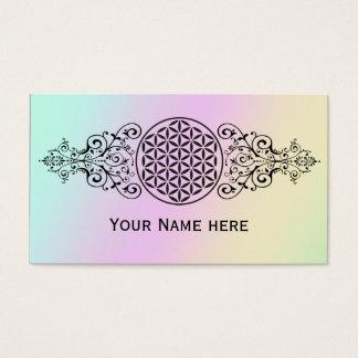 Flor da vida - carimbe o preto dos ornamento mim cartão de visitas