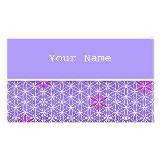 Flor da vida - carimbe o teste padrão sem emenda - cartão de visita