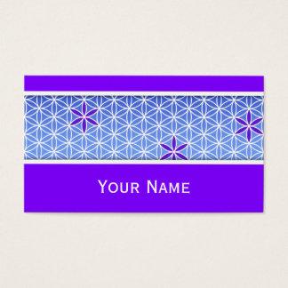Flor da vida - carimbe o teste padrão sem emenda - cartão de visitas