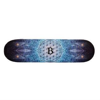 Flor da vida/presente espiritual personalizado shape de skate 19,7cm