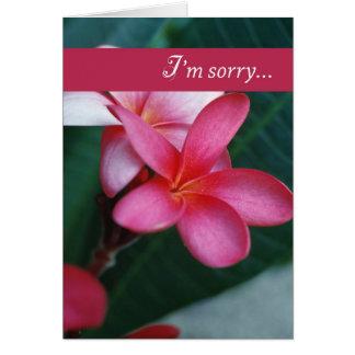 Flor de 3747 desculpas cartão comemorativo