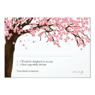 Flor de cerejeira/aguarela RSVP de Sakura Convite 8.89 X 12.7cm