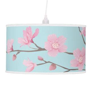 Flor de cerejeira - azul-céu abajur de teto
