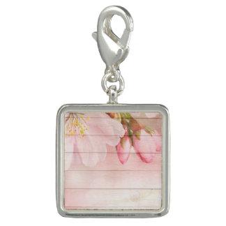 Flor de cerejeira charms com foto