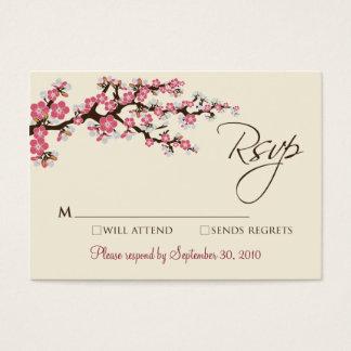 """Flor de cerejeira cor-de-rosa 3,5 x 2,5"""" cartão de"""