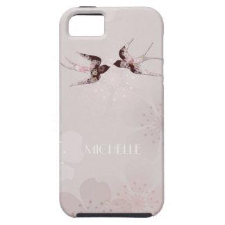 Flor de cerejeira e capas de iphone florais das capa tough para iPhone 5