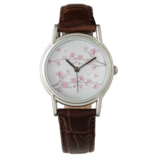 Flor de cerejeira - fundo transparente relógio de pulso