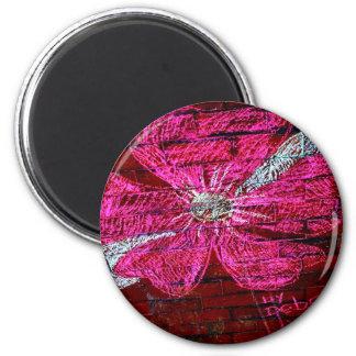 Flor de cerejeira no giz ímã redondo 5.08cm