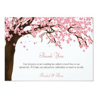 Flor de cerejeira/obrigado aguarela de Sakura você Convite 11.30 X 15.87cm