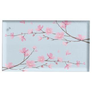 Flor de cerejeira - transparente suporte para cartões de mesa