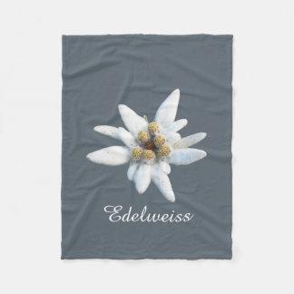 Flor de Edelweiss Cobertor De Velo