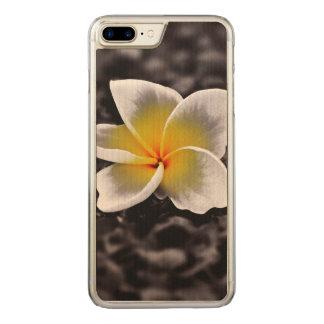 Flor de Havaí do Frangipani do Plumeria Capa iPhone 7 Plus Carved