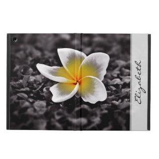 Flor de Havaí do Frangipani do Plumeria Capa Para iPad Air