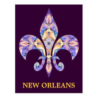 Flor de lis de Nova Orleães do cartão