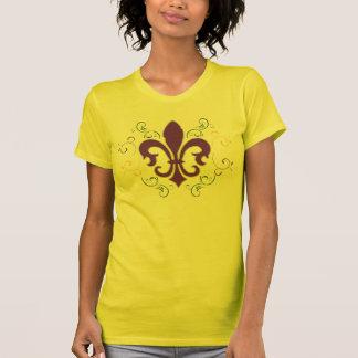 Flor de lis do carnaval camiseta