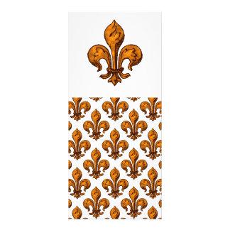 Flor de lis do Dia das Bruxas 10.16 X 22.86cm Panfleto